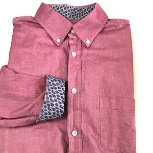 Southern Pines Purple Windmill Woven Button Down